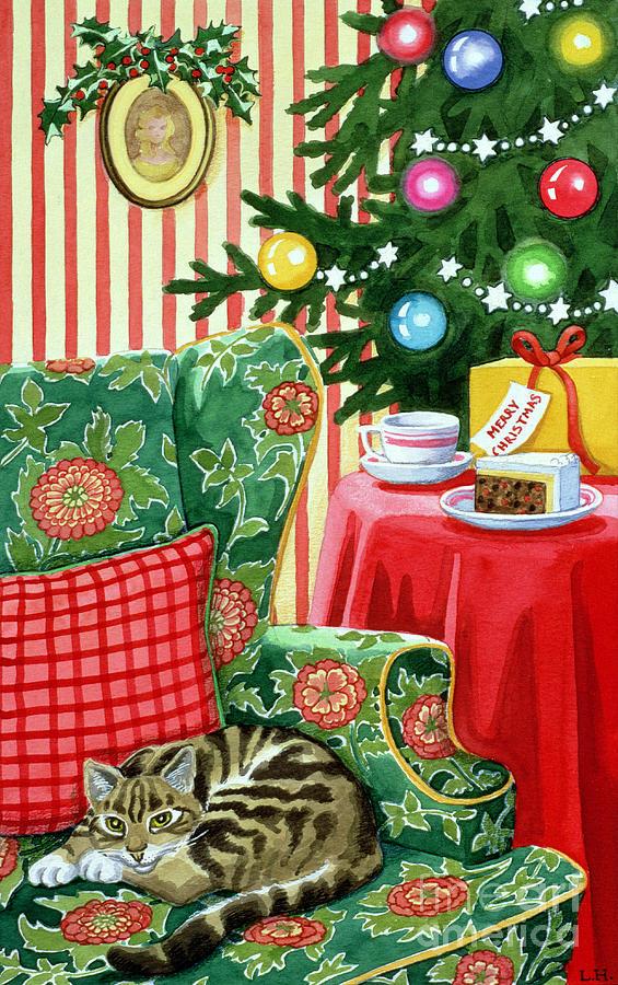 Christmas Tea Painting
