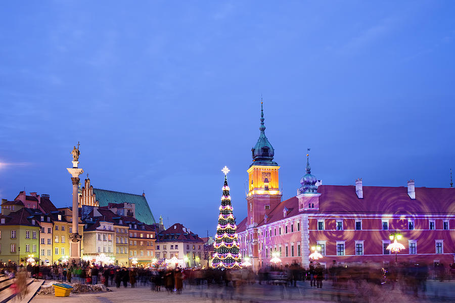 Christmas Time In Warsaw Photograph