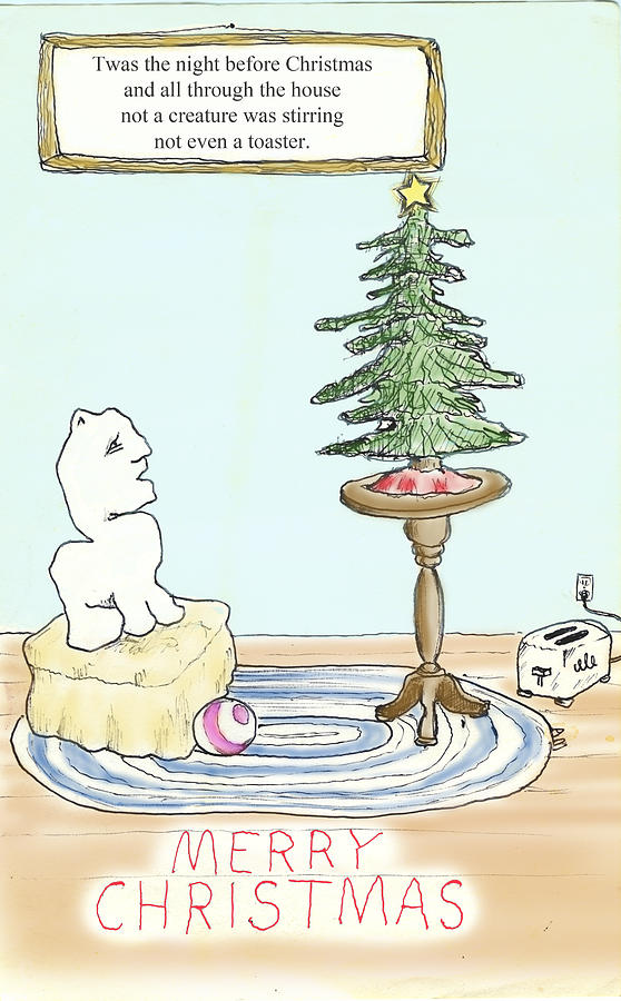 Christmas Toaster Drawing  - Christmas Toaster Fine Art Print