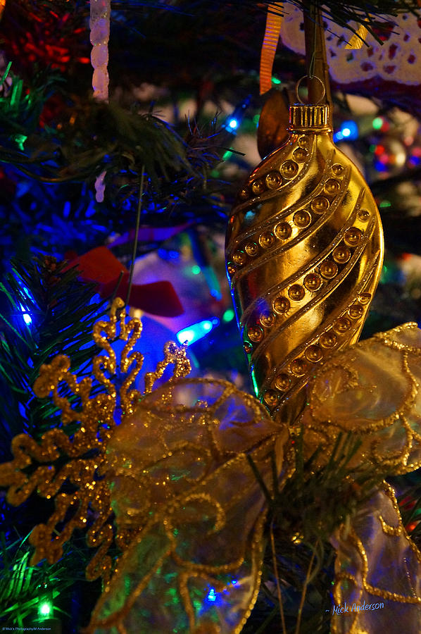 Christmas Photograph - Christmas Tree Detail 2 by Mick Anderson