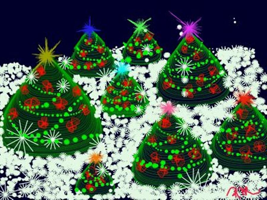 digital art christmas tree - photo #37