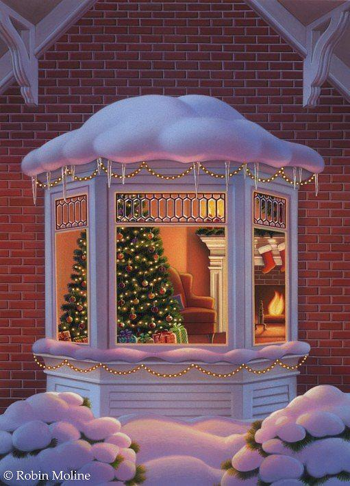 Christmas Window By Robin Moline