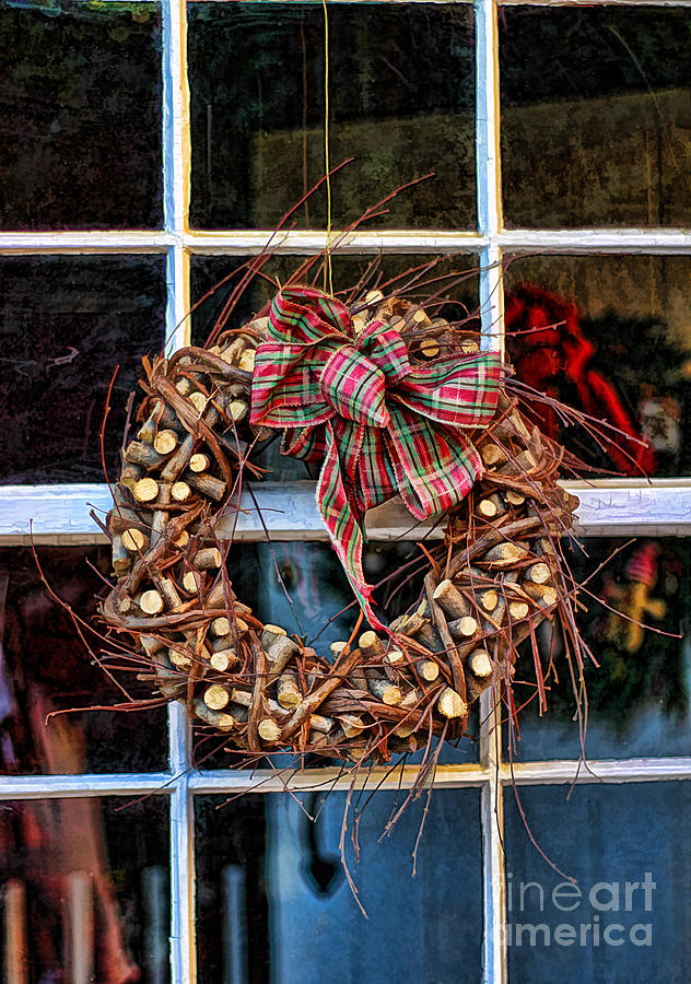 Christmas Wreath Photograph  - Christmas Wreath Fine Art Print