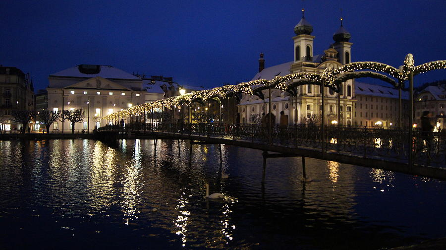 Christmastime In Lucerne Photograph
