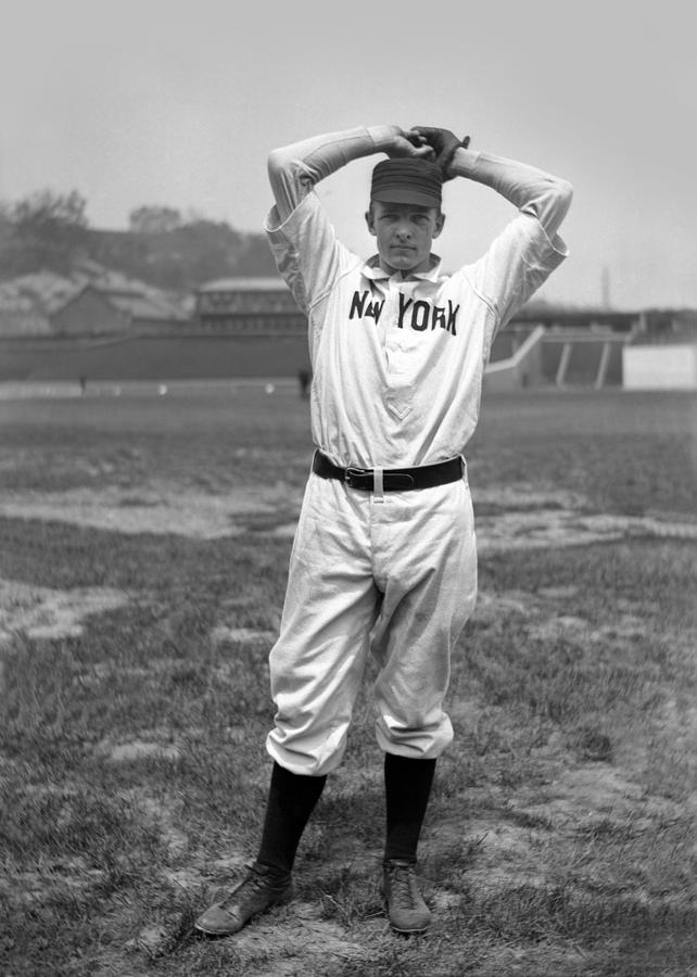 Christy Mathewson Wind Up Photograph