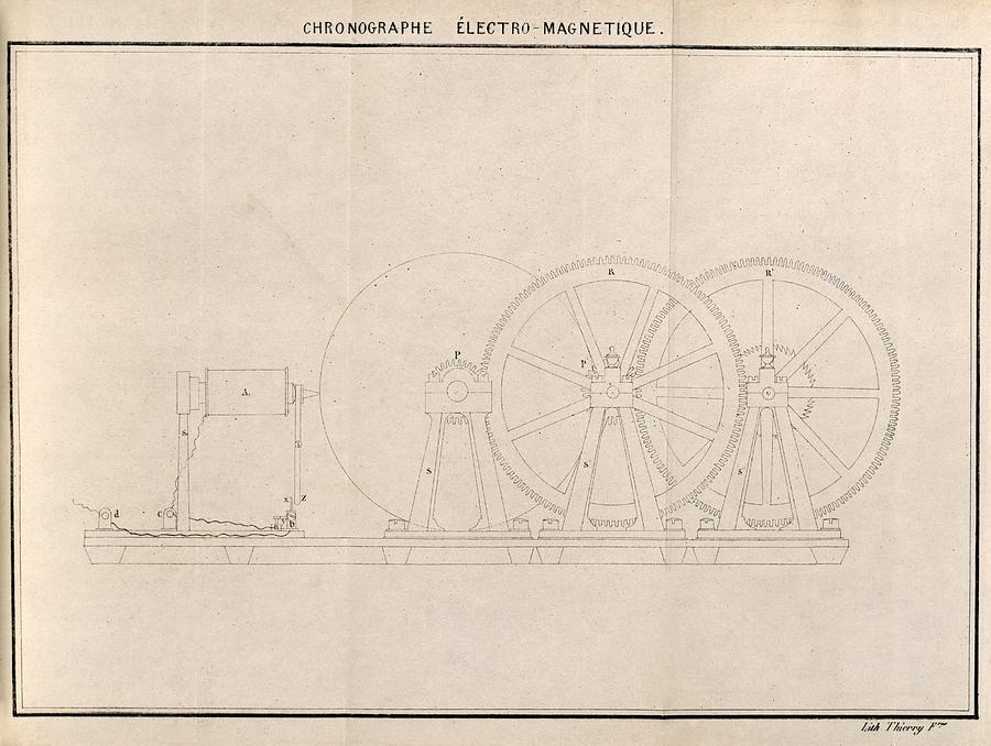 Chronograph, 19th Century Artwork Photograph