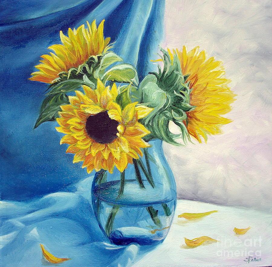 Flower Painting - Chrysanthemums by Sorin Apostolescu
