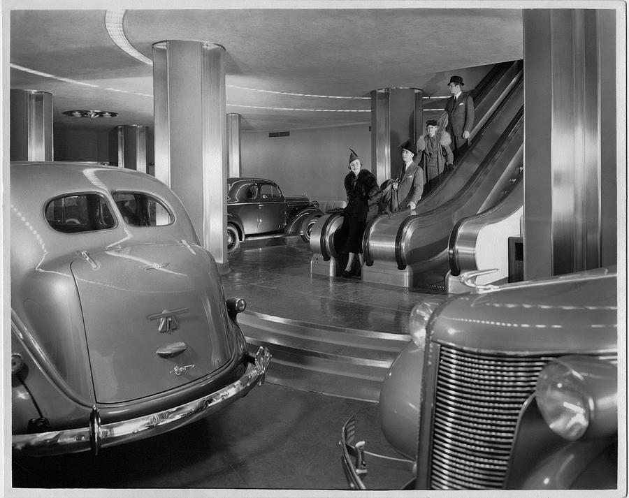 Chrysler Building Car Showroom Photograph By Underwood Archives