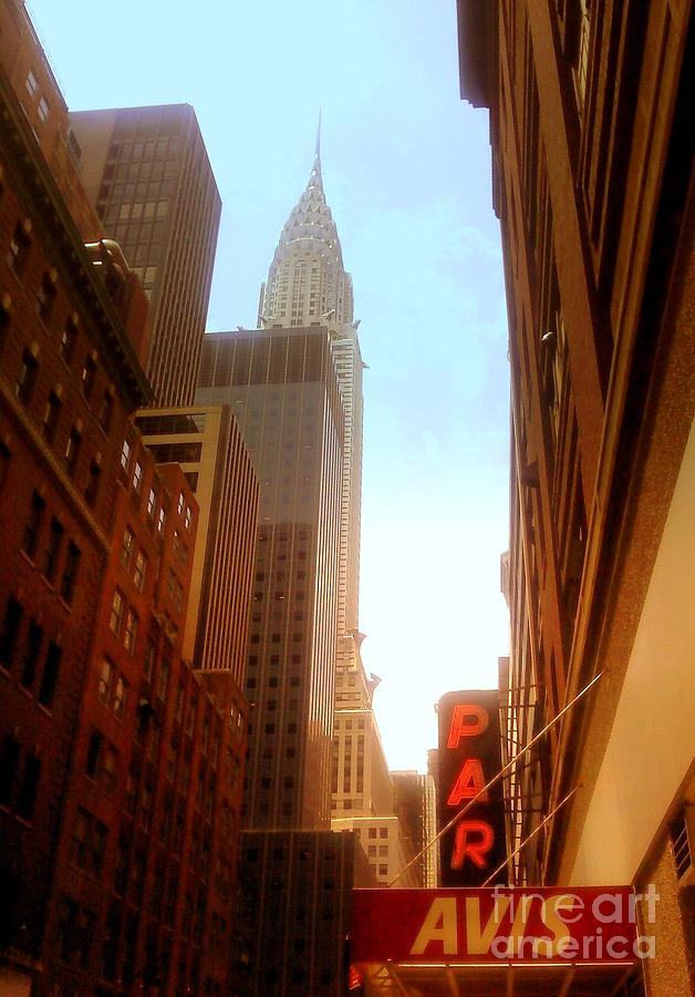 Chrysler Building Rises Above New York City Canyons Photograph