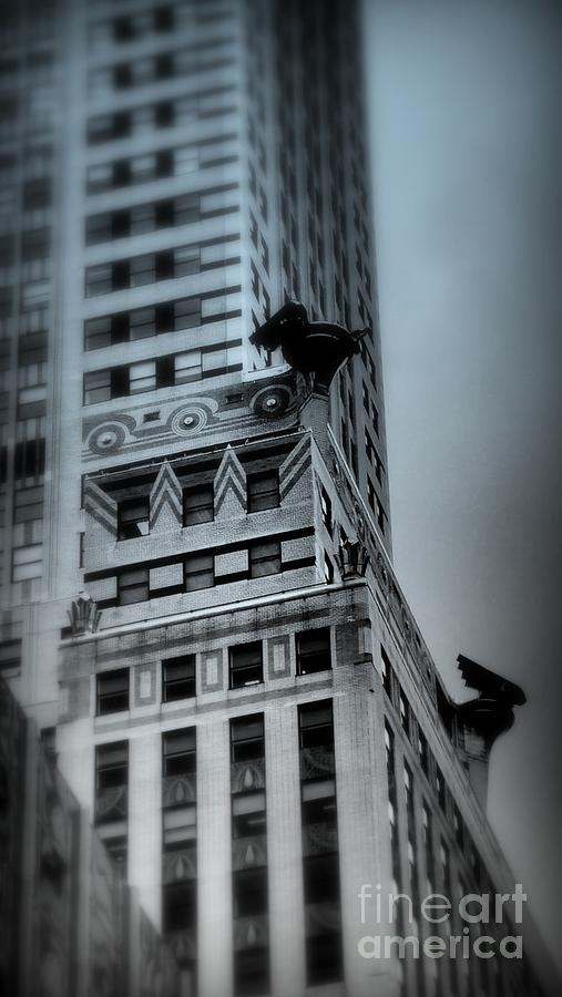 Architecture Of New York City Photograph - Chrysler In Blue by Miriam Danar
