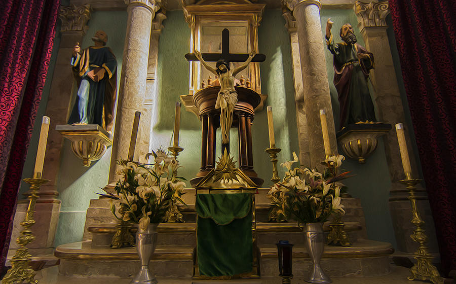 Altar Photograph - Church Altar by Aged Pixel
