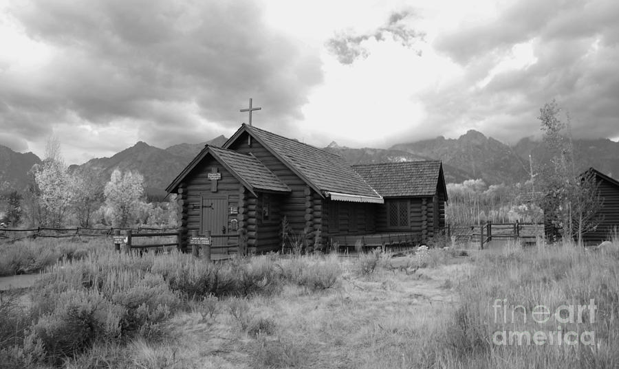 Church In Black And White Photograph