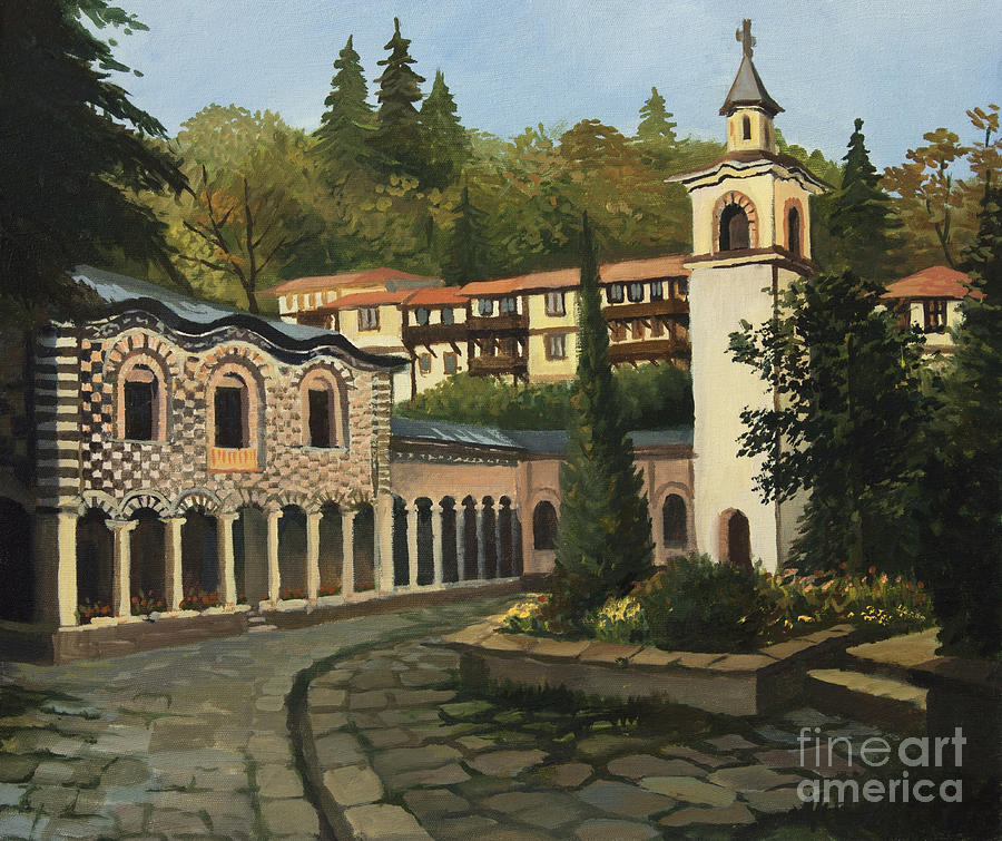 Church In Blagoevgrad Painting