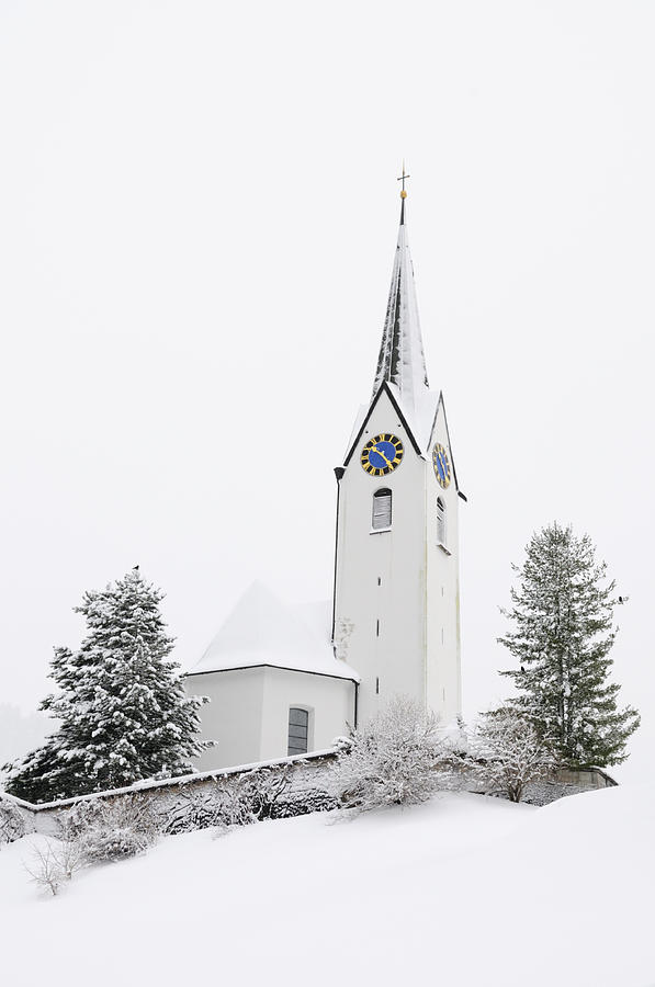 Church In Winter Photograph  - Church In Winter Fine Art Print