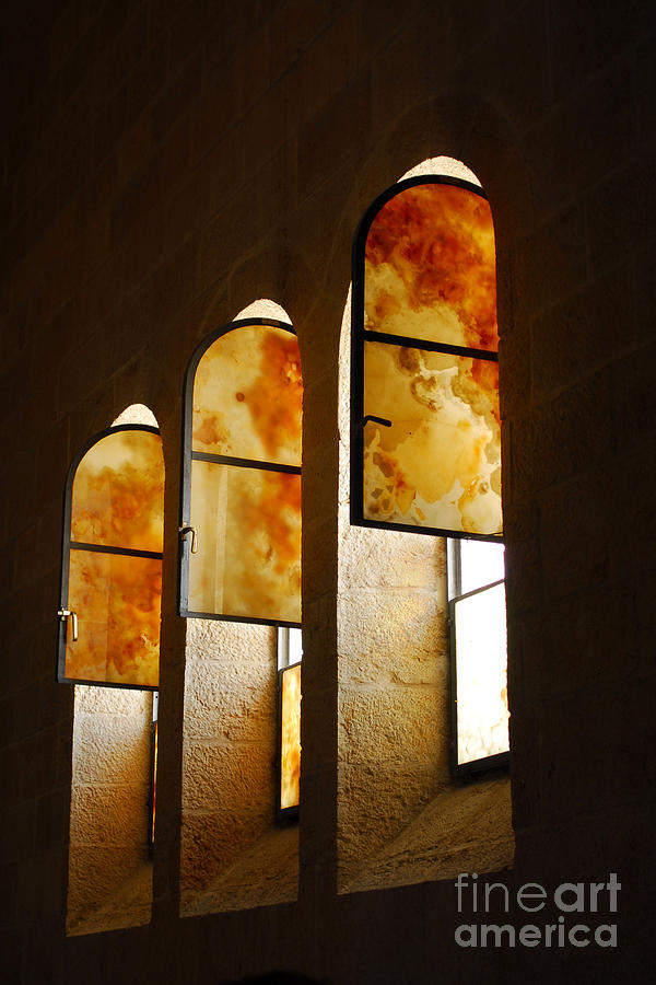 Window Photograph - Church Of Heptapegon In Israel by Eva Kaufman