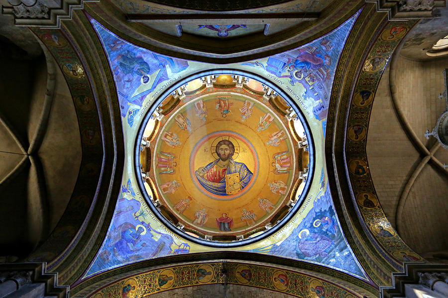 Christ Pantocrator Photograph - Church Of The Holy Sepulchre Catholicon by Stephen Stookey
