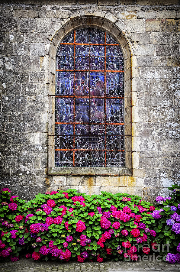 Church Window In Brittany Photograph