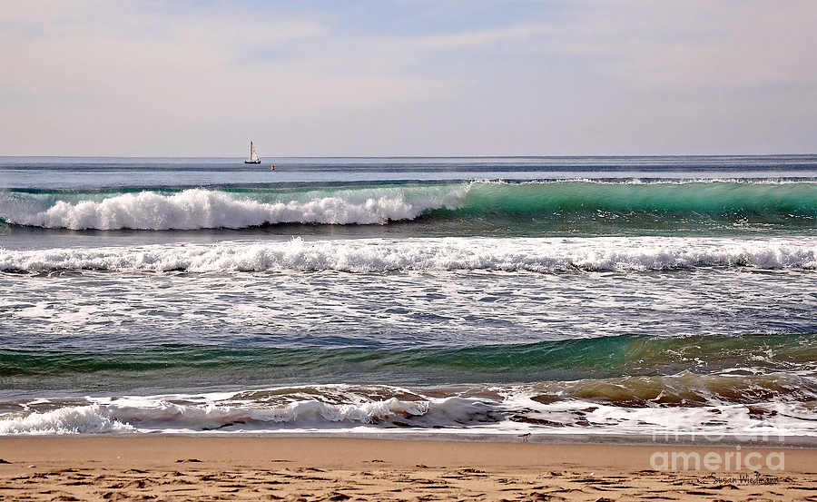 Churning Surf At Monterey Bay Photograph  - Churning Surf At Monterey Bay Fine Art Print