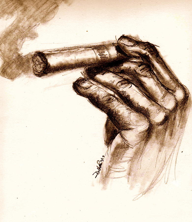 Cigar Drawing by Dallas Roquemore