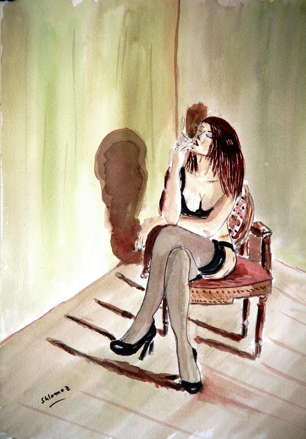 Cigarette Passion. Painting