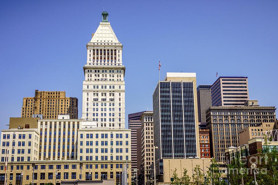 Cincinnati Downtown City Buildings Business District Photograph