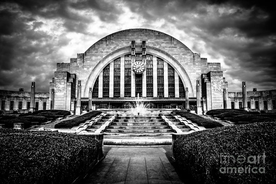 Cincinnati Museum Center Black And White Picture Photograph  - Cincinnati Museum Center Black And White Picture Fine Art Print