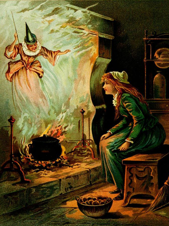 Cinderella And The Fairy Godmother Digital Art - Cinderella And The Fairy Godmother by Mother Goose