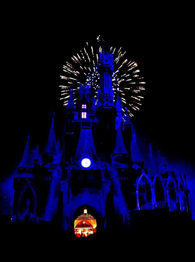 Cinderella Castle Fireworks Photograph