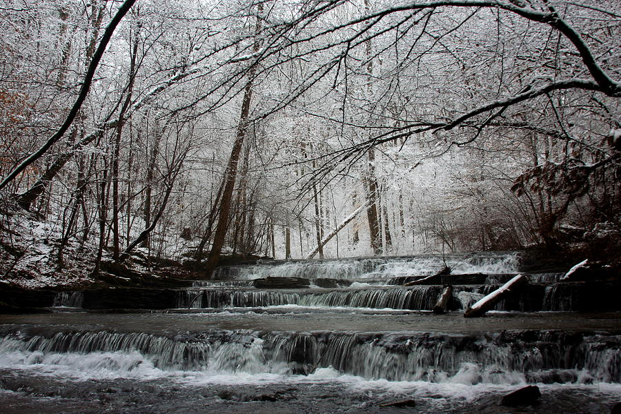 Cinderella Falls In Winter Photograph  - Cinderella Falls In Winter Fine Art Print