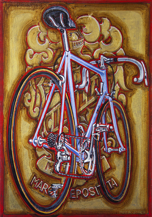 Cinelli Painting - Cinelli Laser Bicycle by Mark Howard Jones