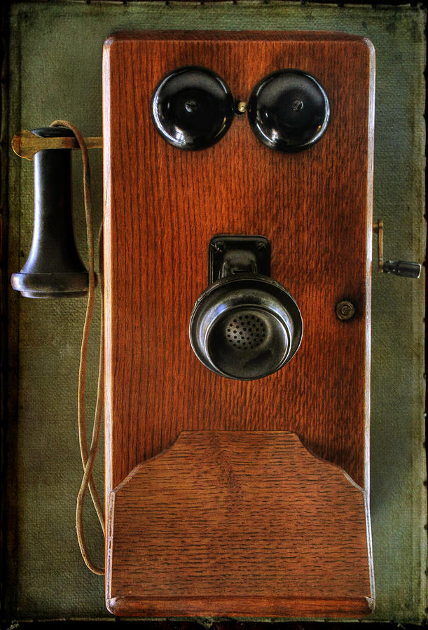 Circa 1920s Antique Wall Phone Photograph