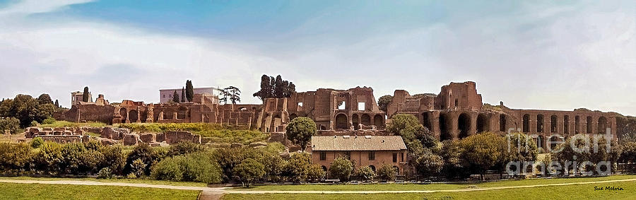 Circo Massimo Panoramic Photograph  - Circo Massimo Panoramic Fine Art Print