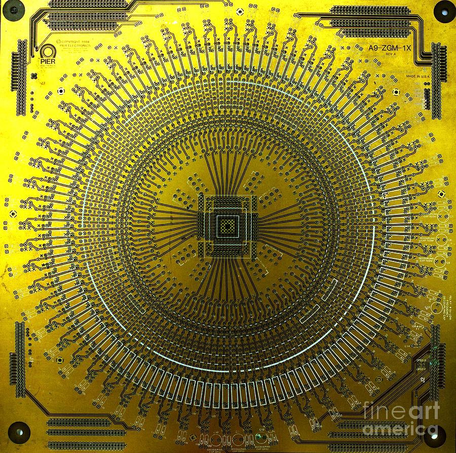 Circuit Board Mandala Photograph by Gerhardt Isringhaus