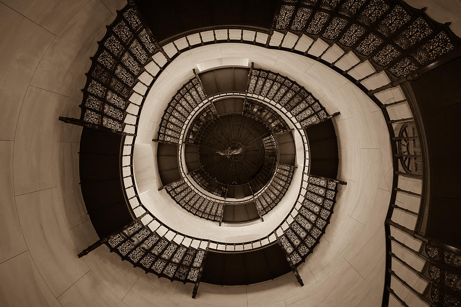 Circular Staircase In The Granitz Hunting Lodge Photograph