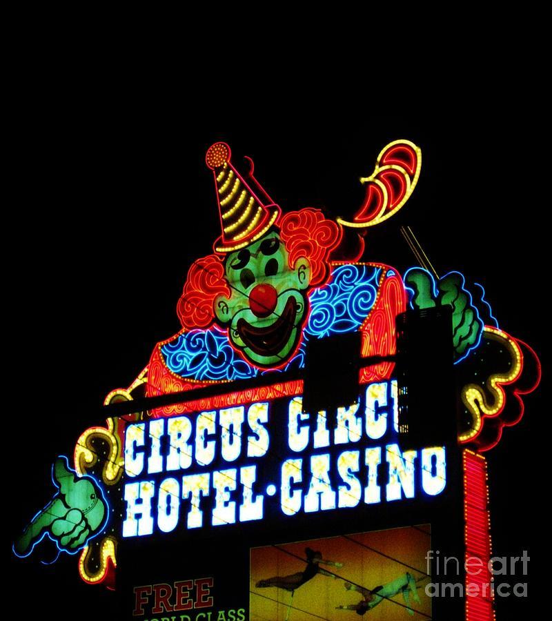Circus Circus Sign Vegas Photograph