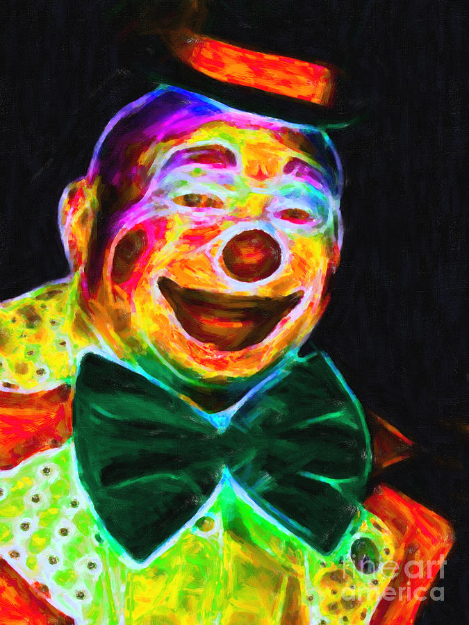 Circus Clown - Version 3 - Painterly Photograph  - Circus Clown - Version 3 - Painterly Fine Art Print