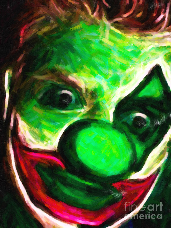 Circus Clown - Version 5 - Painterly Photograph  - Circus Clown - Version 5 - Painterly Fine Art Print