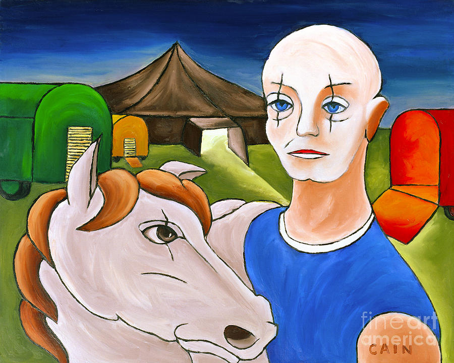 Circus Man And Horse Painting