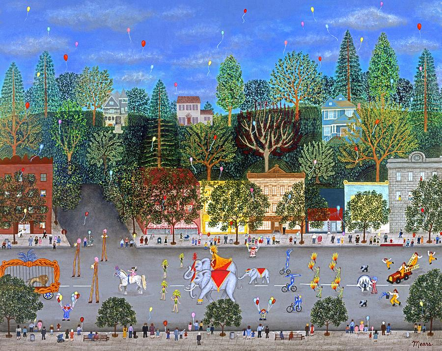 Circus Painting - Circus Parade Two by Linda Mears