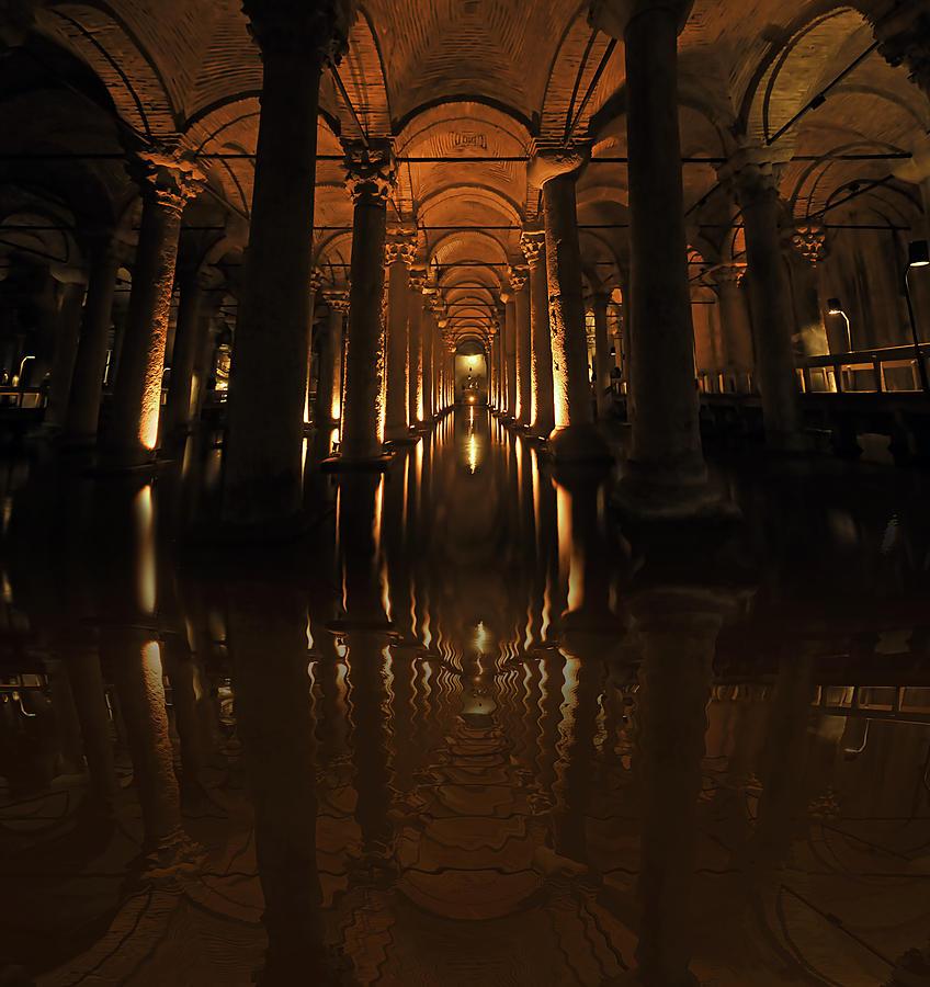 Cisterna Basilica Pyrography - Cisterna Basilica by Ivana Miletic
