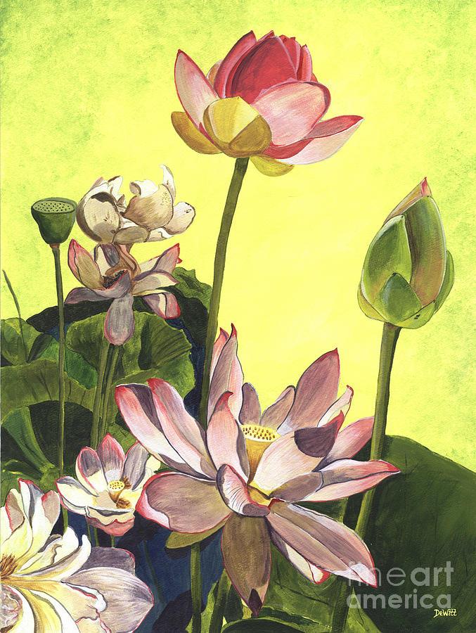 Citron Lotus 1 Painting
