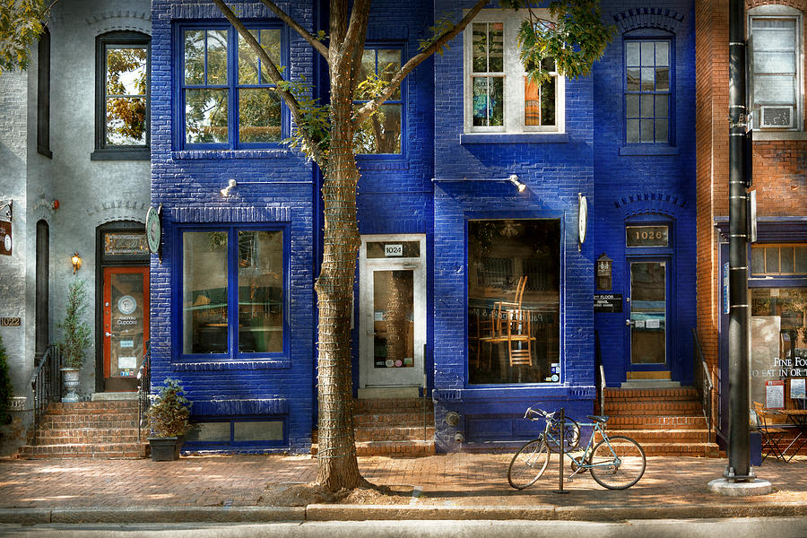 King Street Photograph - City - Alexandria Va -  Bike - The Urbs by Mike Savad