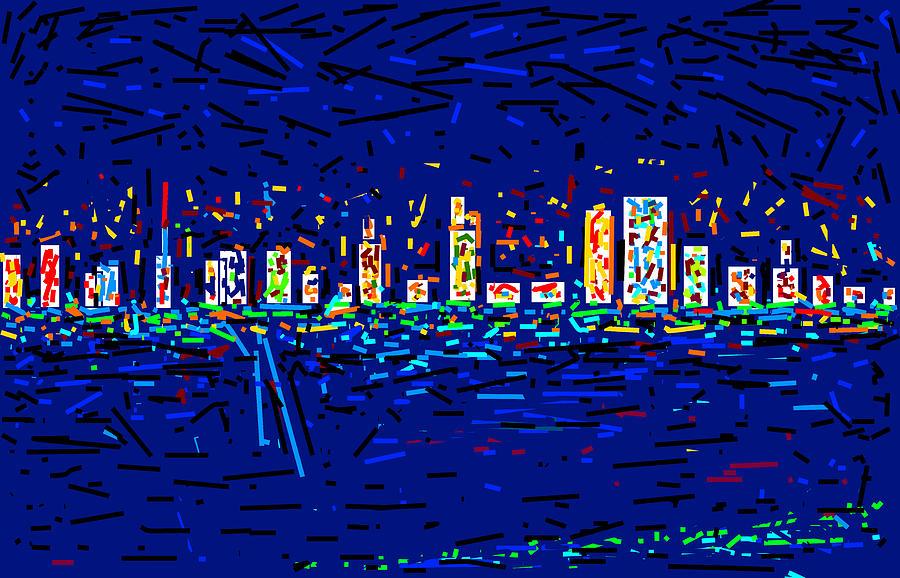 City At Night Digital Art