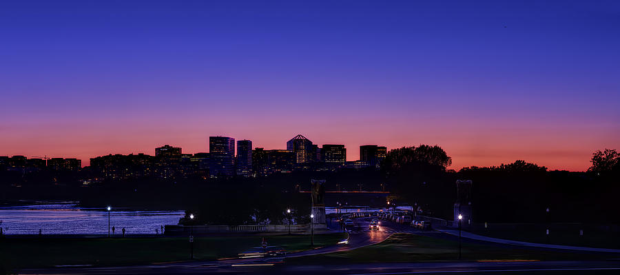 Skyline Photograph - City At The Edge Of Night by Metro DC Photography