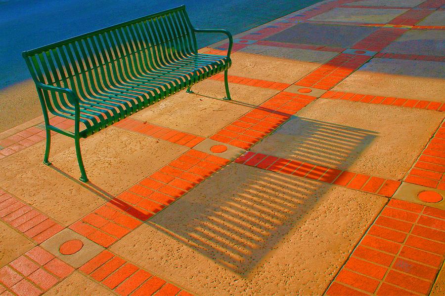 City Bench Photograph - City Bench Still Life by Ben and Raisa Gertsberg