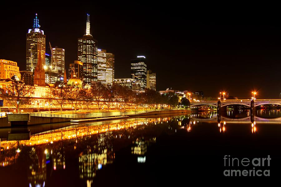 Melbourne Photograph - City Glow by Andrew Paranavitana
