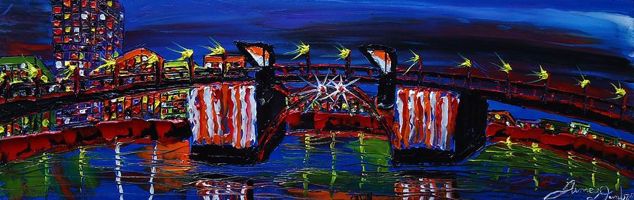 City Light Over Morrison Bridge 7 Painting