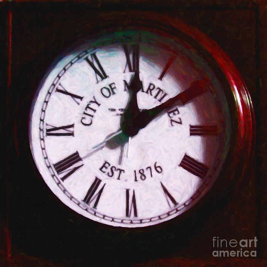 City Of Martinez California Town Clock - 5d20862 - Painterly Photograph