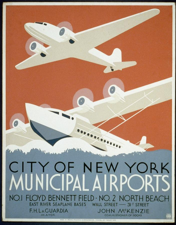 City Of New York Municipal Airports Digital Art