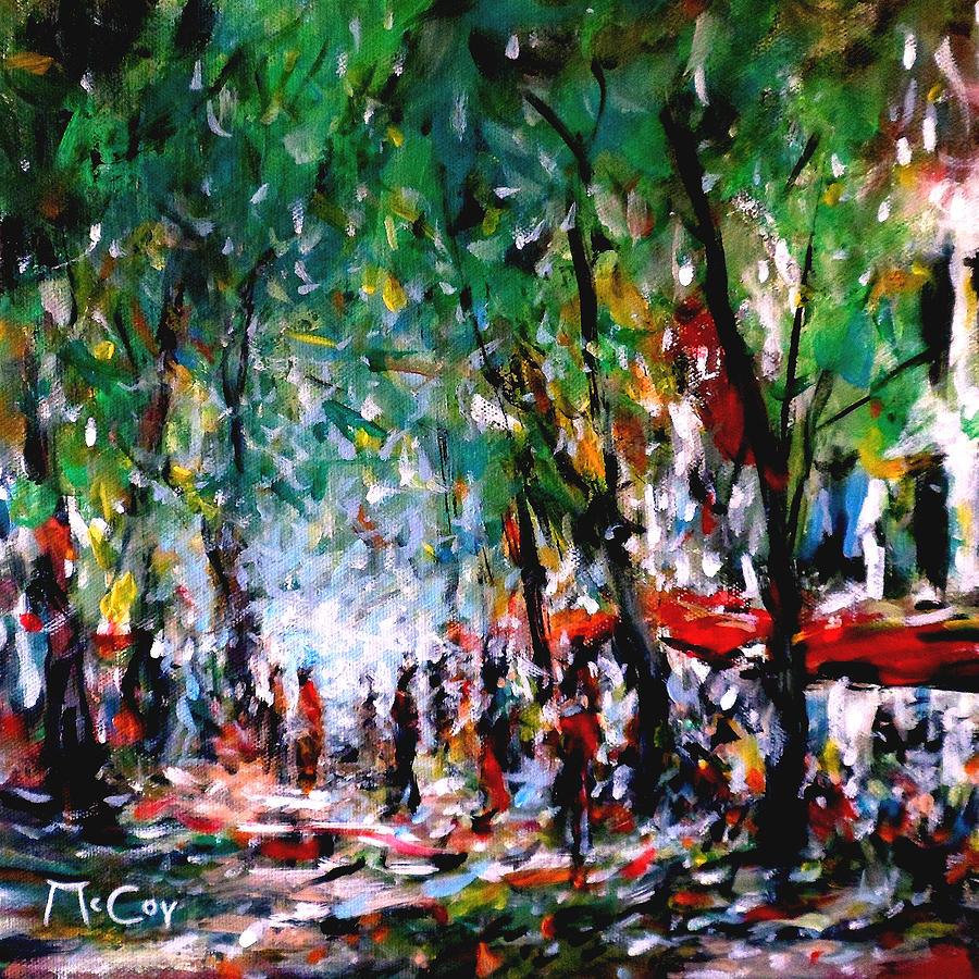 Sunny Painting - City Promenade by K McCoy